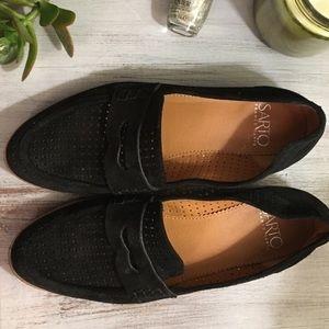 Franco Sarto Shoes - Franco Sarto Jolette Black Suede Loafer Flat 6 e34a016015